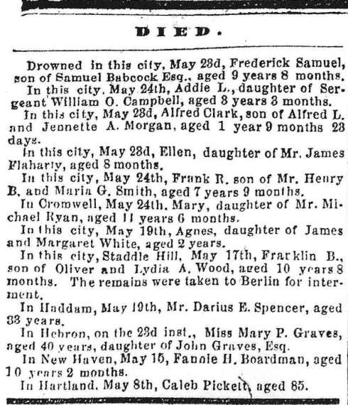 Obituaries, May 27 1863