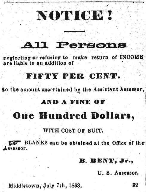 1863 tax notice