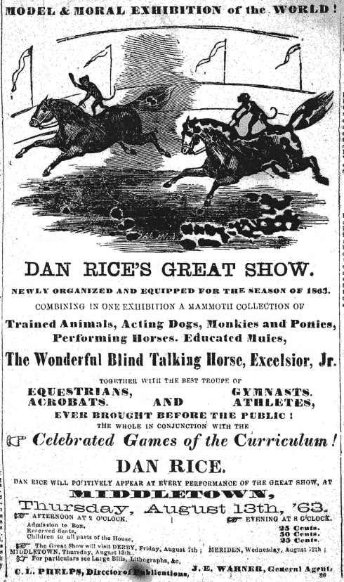 Dan Rice Show ad