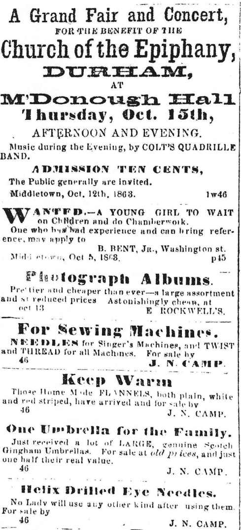 1863 classifieds
