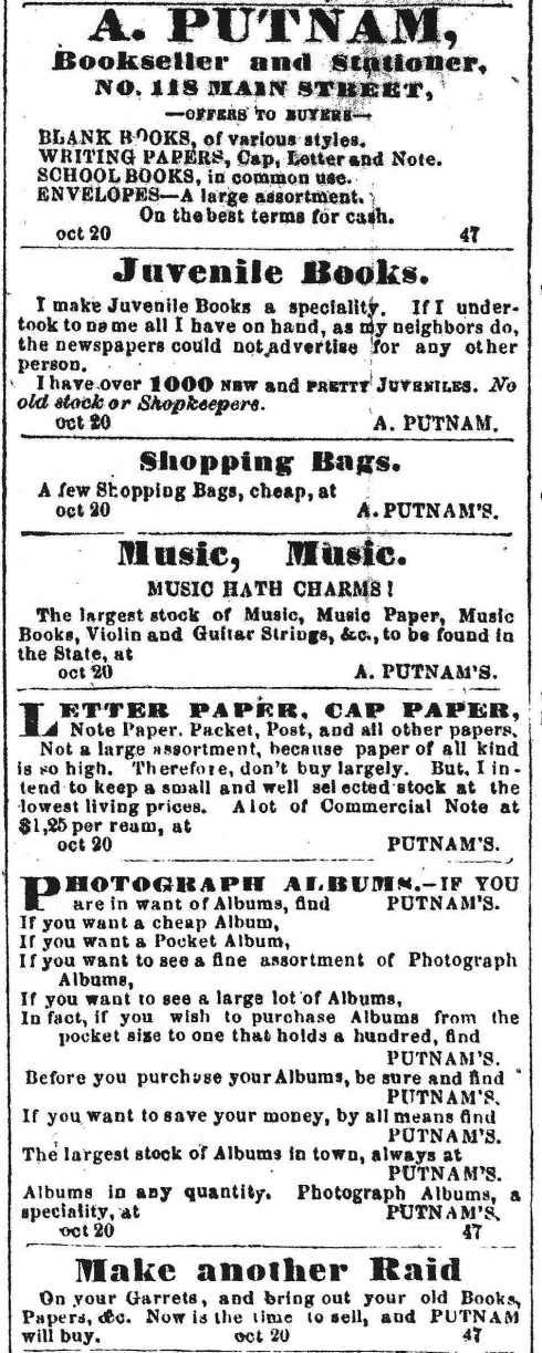 Shop at Putnam's!