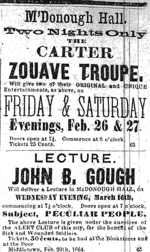 1864 entertainment ads