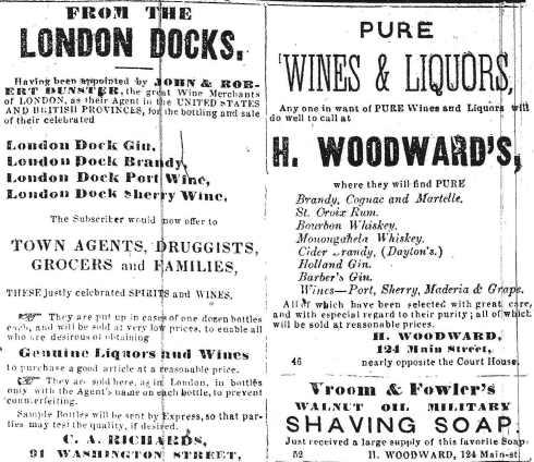 Liquor ads, 1864