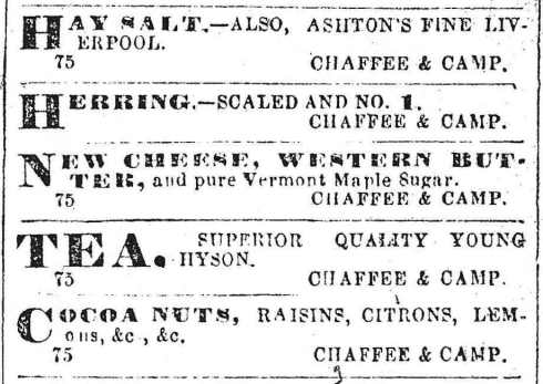 Chaffee & Camp ads 1864