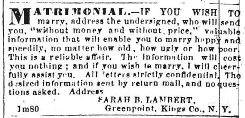 Find your match, 1864