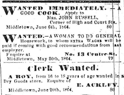 Help wanted, 1864