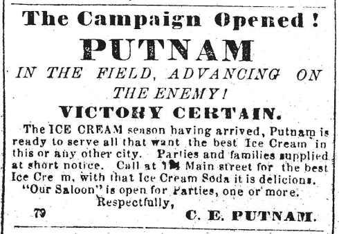 Ice cream wars, 1864 ...