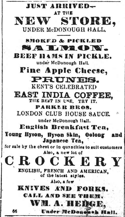 Get your groceries! 1864