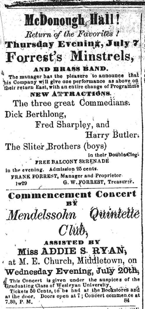 Performances 1864