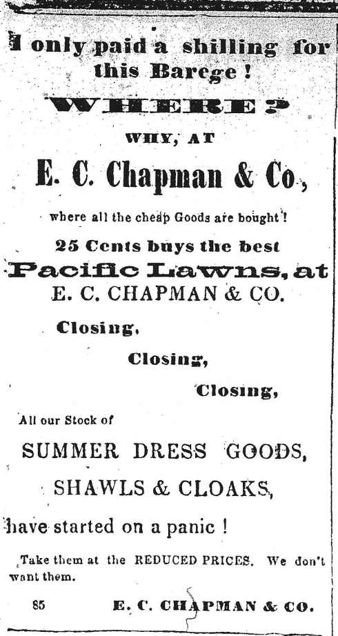 Good fabric cheap! 1864