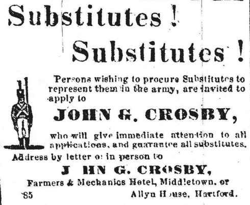 Call for men, 1864