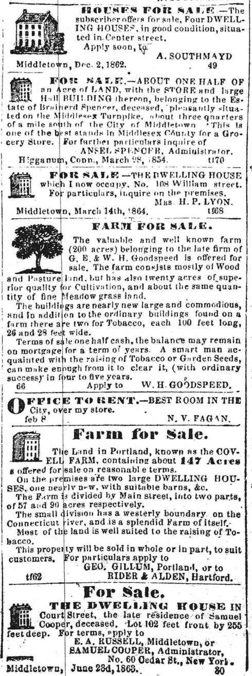 Real estate, 1864