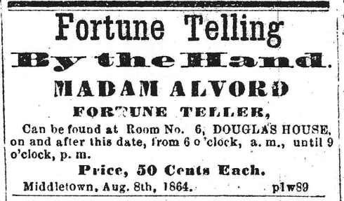 Palm reading, 1864