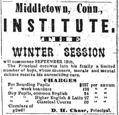 Boarding school, 1864