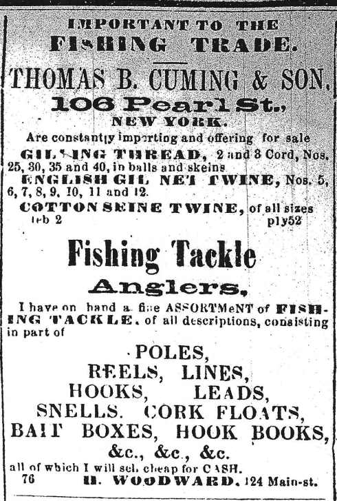 Fishing supplies, 1864