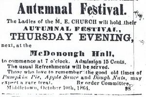 1864 Autumnal Festival