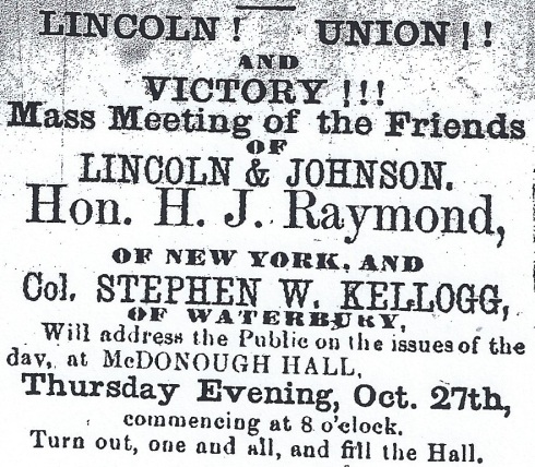 1864 election rally!