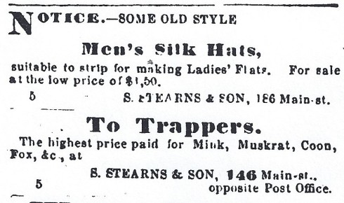 old hats for sale, 1864