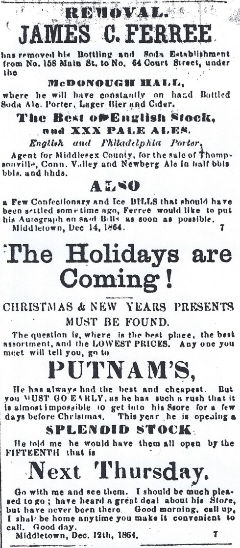 Holiday shopping 1864