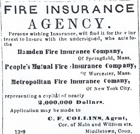 Fire insurance, 1865