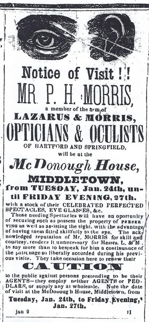1865 ad: Accept no substitutes!