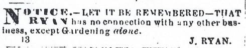 Gardening ad 1865
