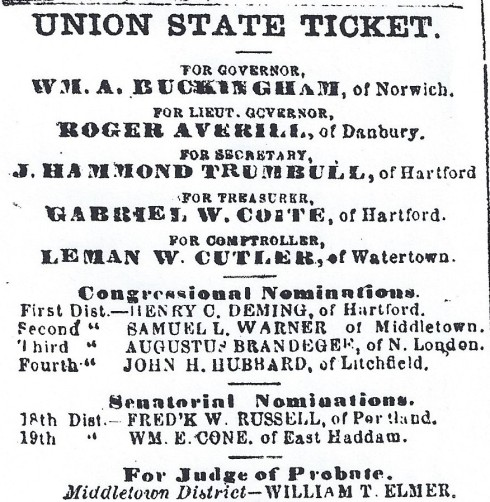 1865 Connecticut state elections