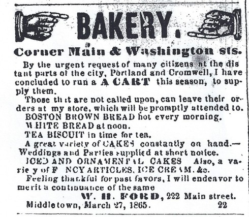 1865 - new bakery cart in Middletown